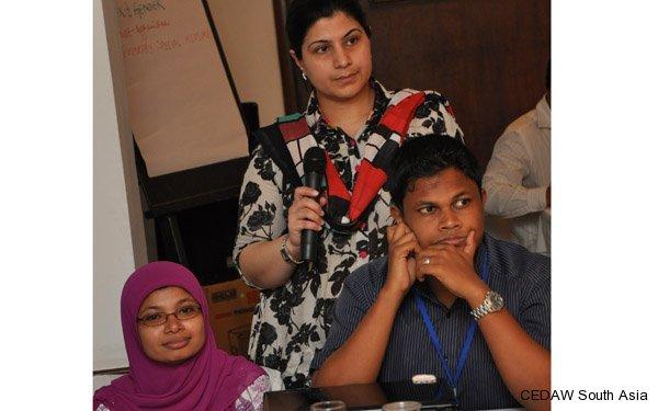 Participants making presentations